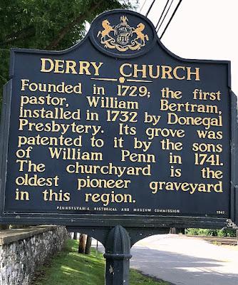 Derry Church Historical Marker in Hershey Pennsylvania