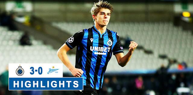 Club Brugge vs Zenit – Highlights