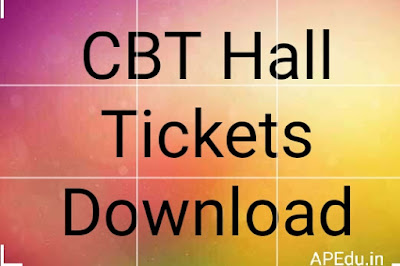 CBT Hall Tickets Available Download now.