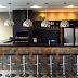 Área de churrasco moderna decorada na cor preta - linda!