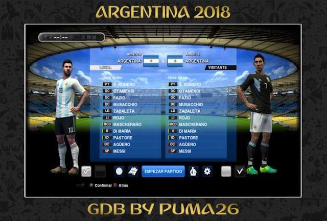 Argentina 2018 Kit PES 2013