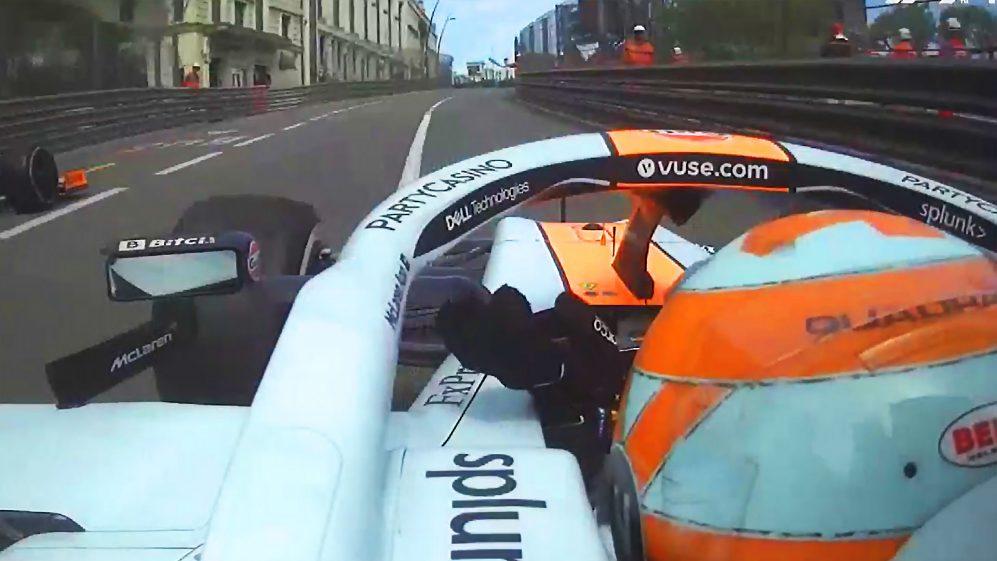 Norris diz que a sugestão de que ele acenou sarcasticamente para Ricciardo em Mônaco é 'c  absoluta'
