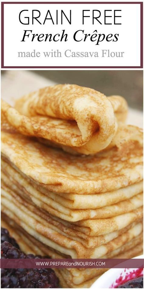 These delicate Grain-Free French Crêpes are free from gluten and grains and can be easily made with 5 ingredients in the blender. Enjoy them savory or sweet.
