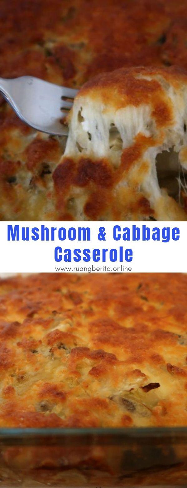 Mushroom & Cabbage Casserole #maincourse #mushroom #cabbage #casserole