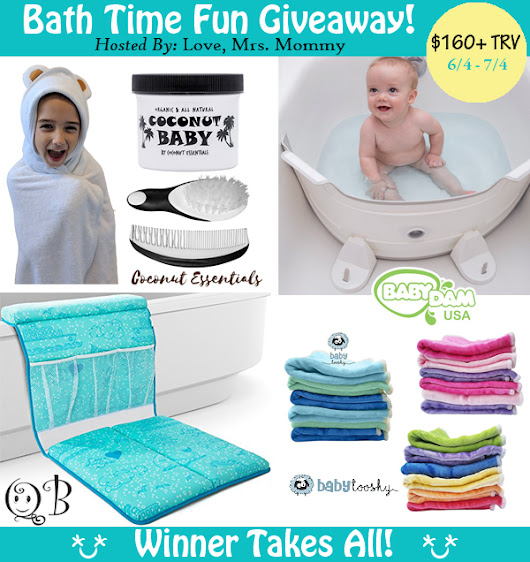 It's A Bath Time Fun Giveaway! {$160 Value} #giveaway