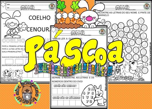 Atividades criativas Páscoa Educação Infantil