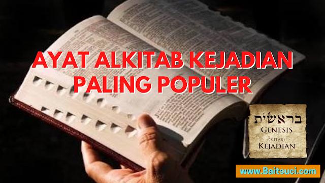 Ayat Alkitab Kejadian Paling Populer