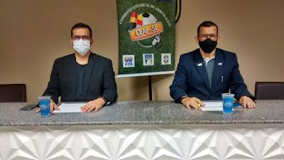 Diretor do Departamento de Árbitros Cel. Rolemberg e o Presidente da CEAF-SE Edmo Oliveira. Foto: FSF