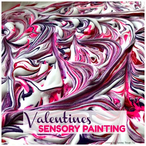 Valentines Sensory Painting