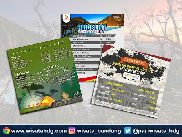 Update Harga Tiket dan Nomor Kontak Tempat Wisata di Bandung Tahun 2020