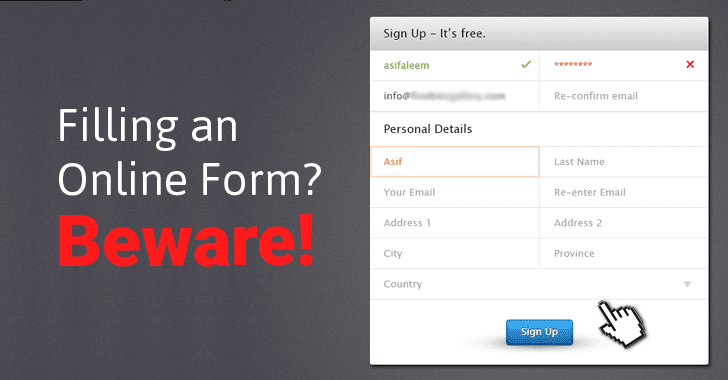 WebSites Found Collecting Data from Online Forms Even Before You Click Submit