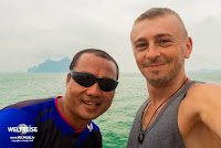 Guide Pong und Arkadij. Thailand.