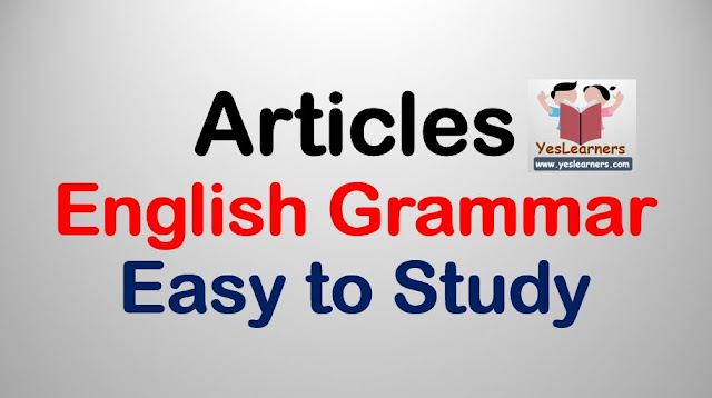 `Articles` - a, an & the  -  English Grammar Lesson