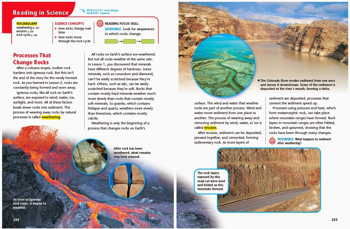 sediment on earth surface What are three things that the sediments in sedimentary rocks may be made of large rock formation at the surface of the earth precipitate.