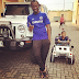 Paul Okoye buys his son a miniature Wrangler Jeep (photos)