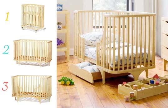 Stokke Sleepi Convertible Wood Crib In Natural Bed