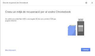 Recuperación de Chromebook