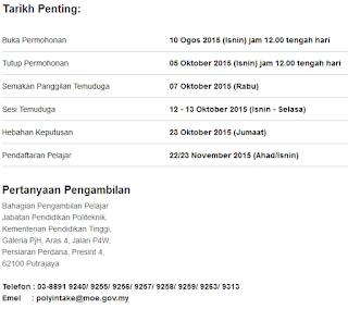 polytechnic courses, pendaftaran online politeknik