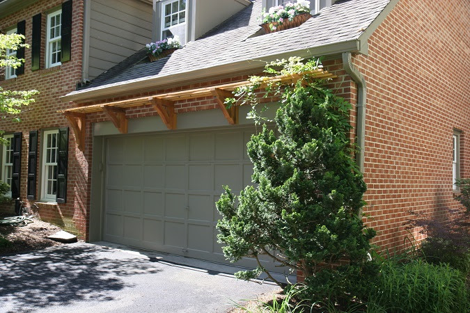 Decorating The Garage Exterior With An Arbor Rustic
