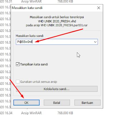 Cara Ekstrak VHD UNBK 2020 Simulasi Gladi Bersih Terbaru