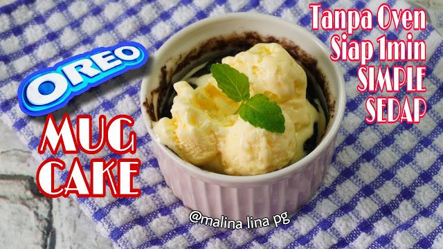 oreo mug cake, oreo cake in microwave,resepi kek viral 3bahan, kek viral di tiktok,resepi kek oreo simple,kek microwave,