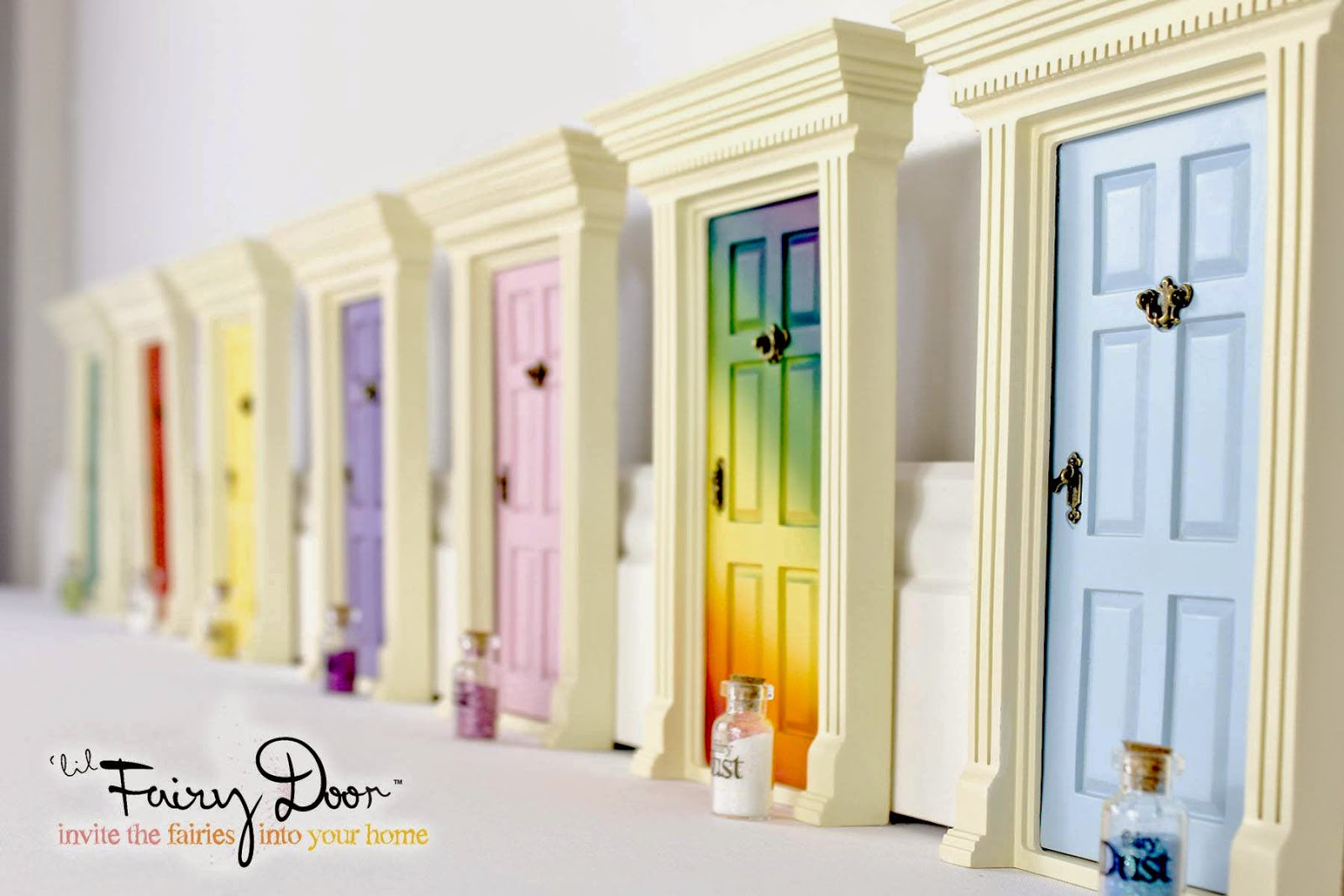 Sold in a rainbow of colors the Fairy Doors safely attach to any wall for the imaginative fairies to come visit their human princess or prince at night. : fairies doors - pezcame.com