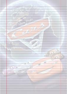 Folha Papel Pautado Filme Carros 2 PDF para imprimir na folha A4