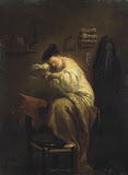 Woman Looking for Fleas by Giuseppe Maria Crespi - Genre Paintings from Hermitage Museum
