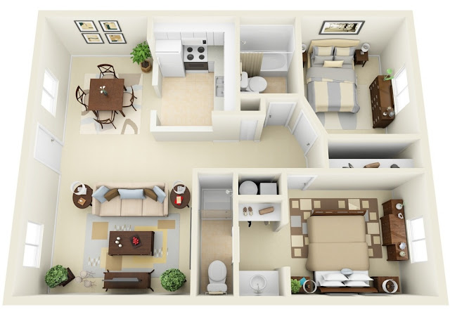 Denah Rumah Minimalis Pasangan Baru