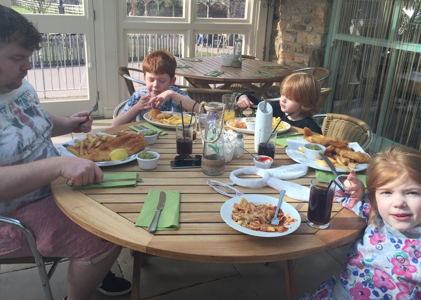Fish & Chips Friday at Black Horse, Beamish - orangery