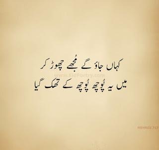 Kahan Jao Ge Mujhe Choor Kar Sad Shayari
