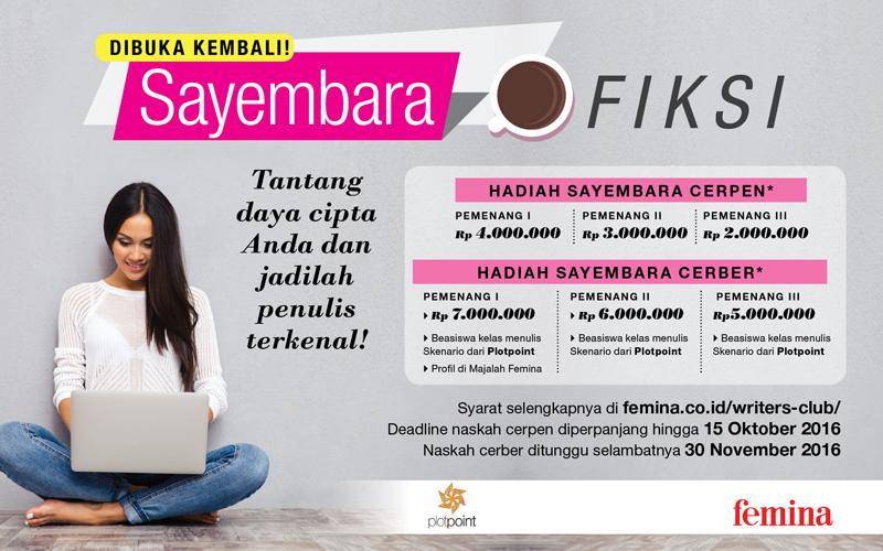 Lomba Cerpen Majalah Femina November 2016