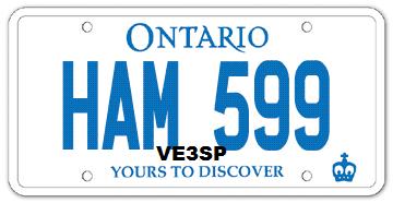VA3AGV VE3SP Amateur Radio Toronto Canada Vehicle HAM Amateur Radio Personalized License Plate