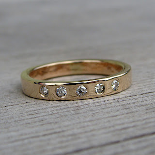 moissanite gold band