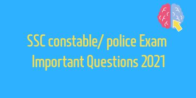 SSC Exam important questions