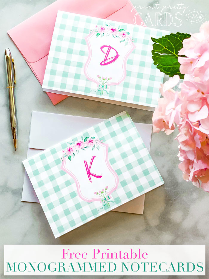Cards with Monogram Letters