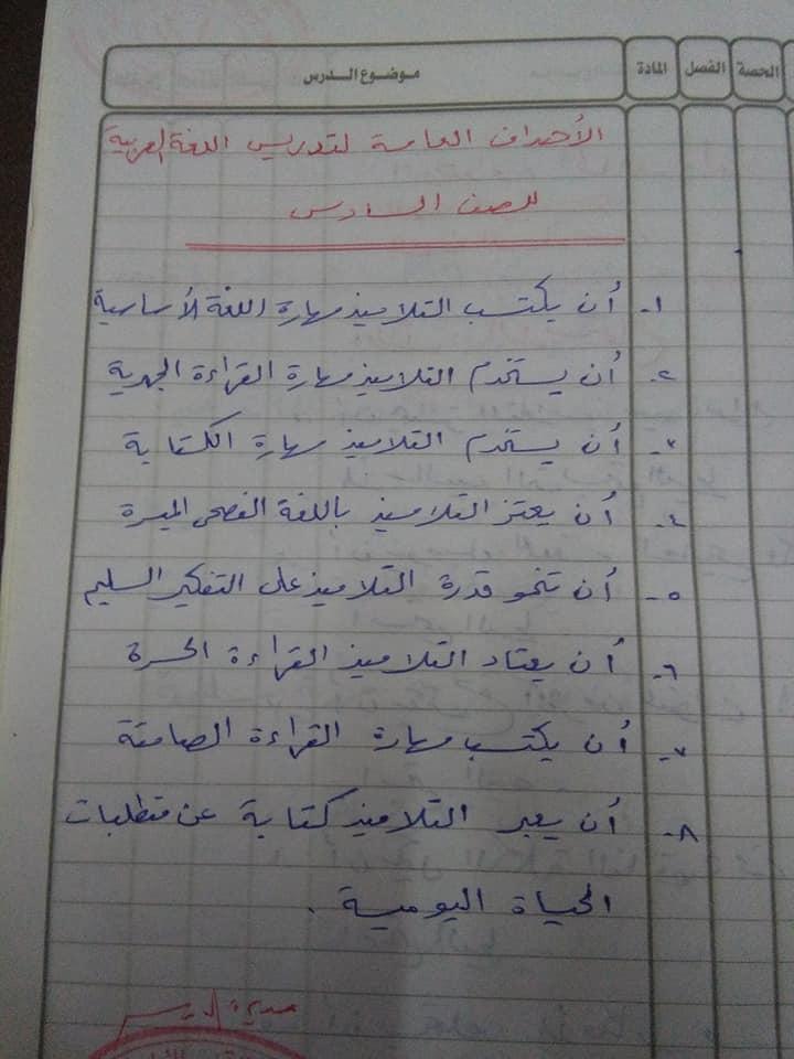 هام جدا لمعلمى اللغة العربية للصف السادس الاهداف العامة والخاصة وخريطة المنهج أ/ عزازى عبده 1%2B%25281%2529