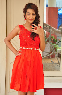 Deeksha Panth Stills in Red Short Dress at Banthi Poola Janaki Press Meet ~ Bollywood and South Indian Cinema Actress Exclusive Picture Galleries