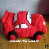 patron gratis coche rayo mcqueen amigurumi, free amigurumi pattern car rayo mcqueen