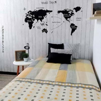 gambar desain kamar tidur perempuan sederhana