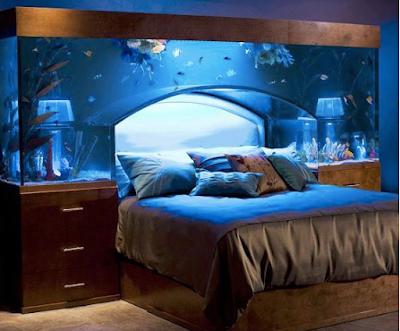 aquarium kepala tempat tidur