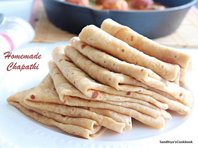 Stack of soft chapati