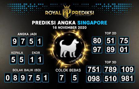 Royal Prediksi SGP Senin 16 November 2020