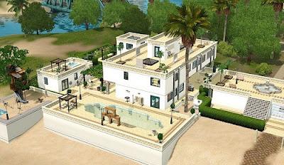 Sims 3, vivienda en la playa