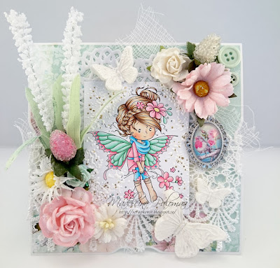 Weestamps Iris shabby chic card
