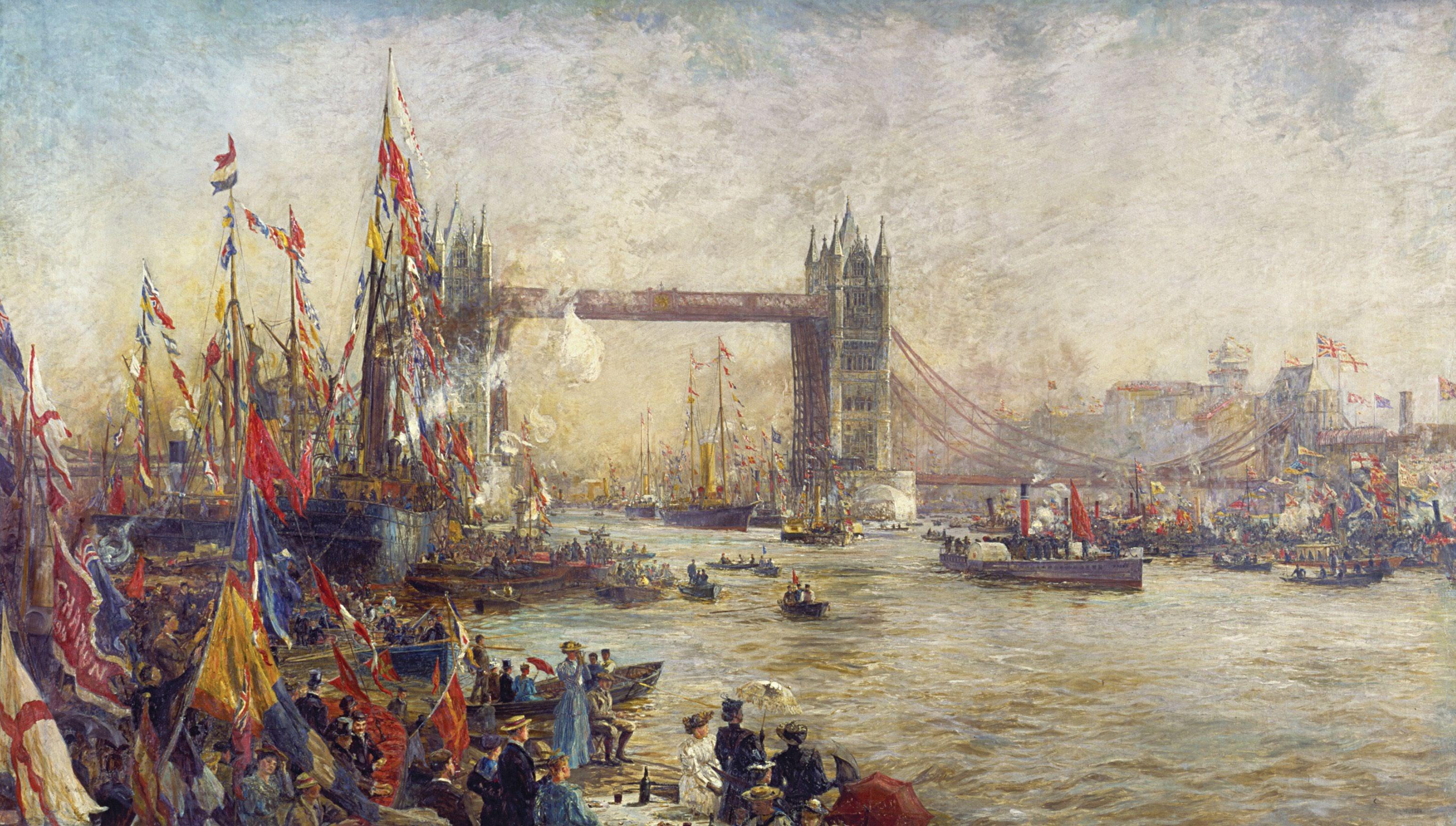 Charles William Wyllie Opening of Tower Bridge