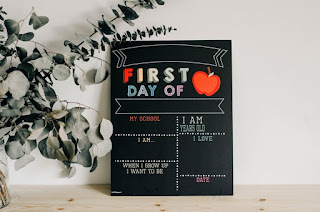 The first day of school sign | Reusable 2-in-1 COLOR or MONOCHROME