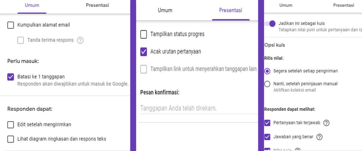 Langkah Membuatnya Soal PG & Essay Google Drive