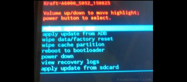 Install Lenovo A6000 Stock ROM Kraft-A6000 S061