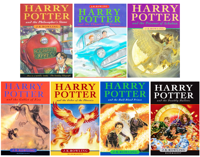 Harry Potter UK Book Covers